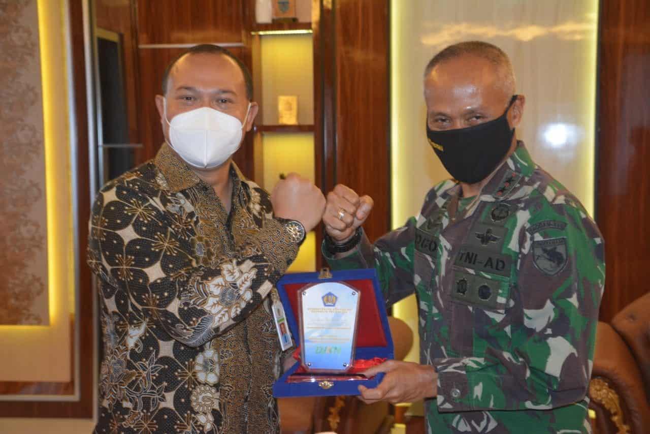 Komitmen Bangun Zona Integritas, Kankanwil DJKN Papua Temui Pangdam XVI/Cenderawasih