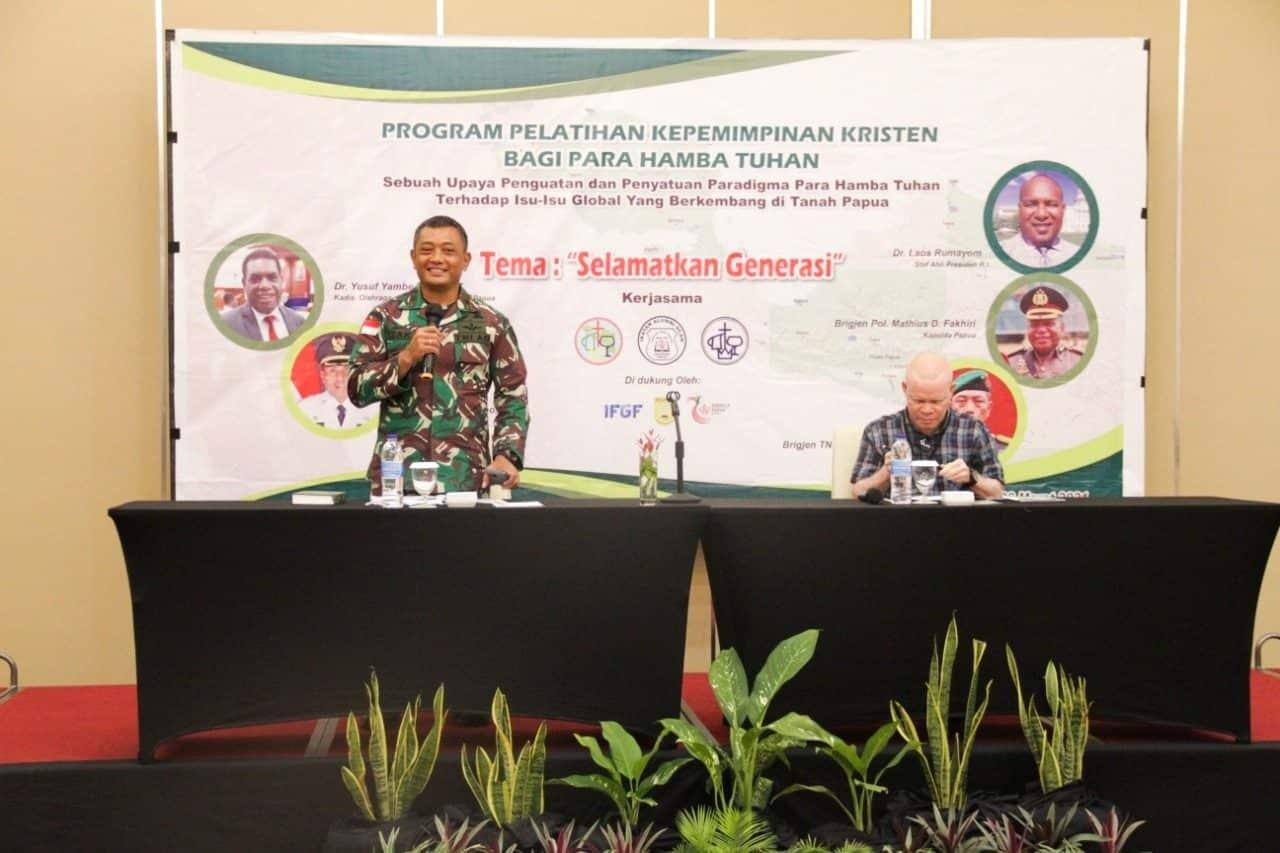TNI Dukung Upaya Gereja Selamatkan Generasi Muda Papua