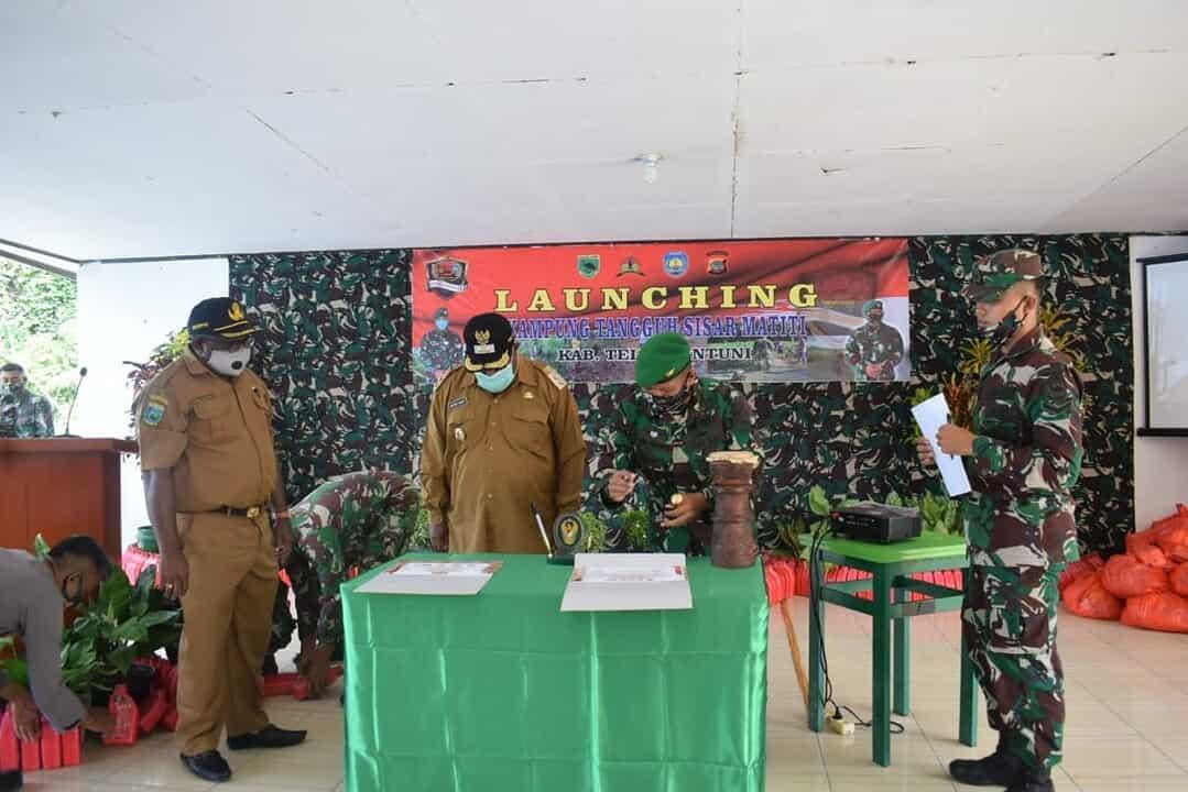 Sukseskan 100 Kampung Tangguh, Danrem 182/JO Canangkan 4 Wilayah di Kabupaten Papua Barat
