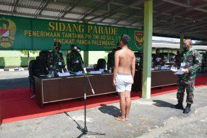 Kepala Staf Kodam II/Sriwijaya Pimpin Sidang Parade Calon Tamtama Panda Palembang