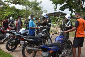 Tingkatkan Disiplin Berlalu Lintas Korem 174 ATW Merauke Gelar Pemeriksaan Kendaraan