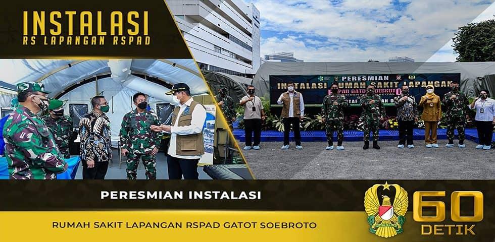 Peresmian Instalasi Rumah Sakit Lapangan RSPAD Gatot Soebroto