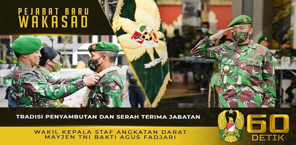 Tradisi Penyambutan dan Serah Terima Jabatan Wakil Kepala Staf Angkatan Darat