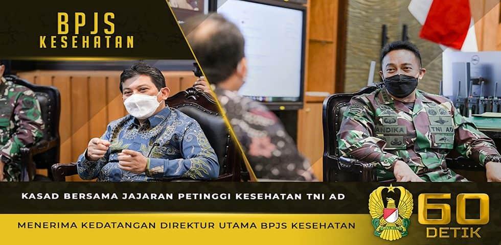 Kasad Bersama Petinggi Kesehatan TNI AD Menerima Kedatangan Direktur Utama BPJS Kesehatan