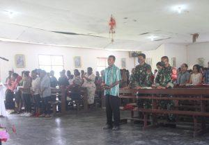 Dansatgas Yonif Mekanis 512/QY Terjun Langsung Amankan Ibadah Paskah di Perbatasan Papua