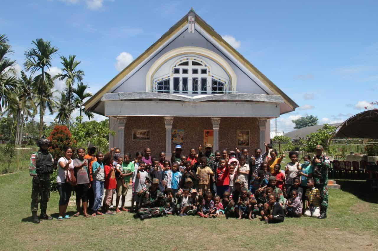 Meriahkan Perayaan Paskah, Satgas 131 Gelar Berbagai Lomba di Papua