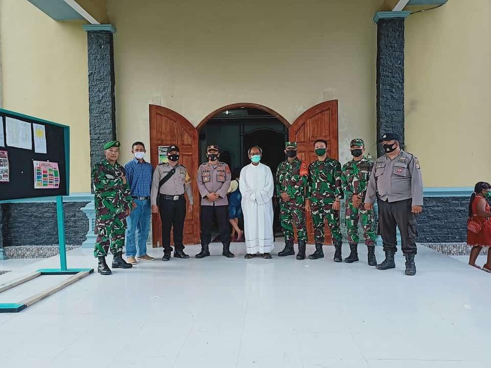 Jelang Perayaan Paskah, Gereja di Kota Palembang Dijaga Aparat Gabungan Kodam II/Sriwijaya dan Polda Sumsel