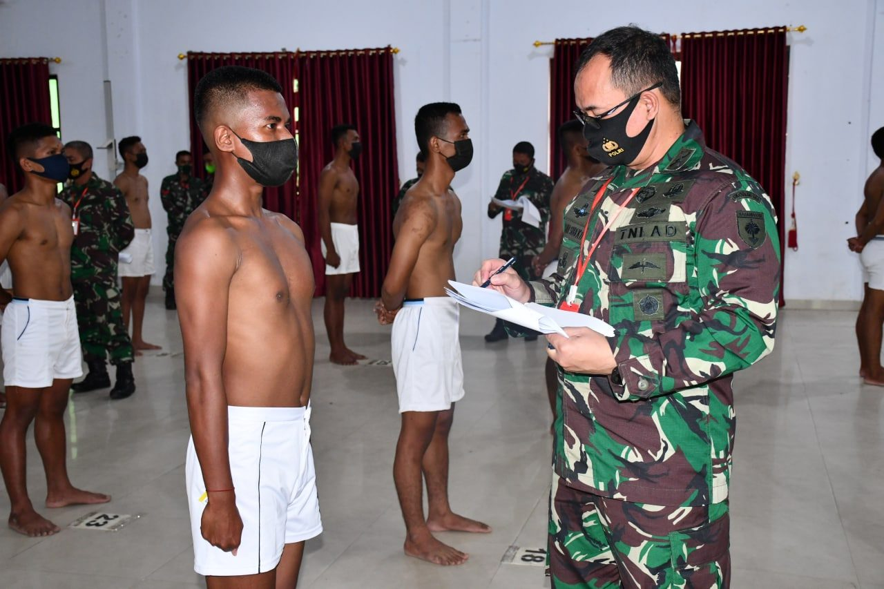 Sisihkan 771 Calon, 142 Pemuda Sultra Tembus Seleksi Pusat Cata PK TNI AD