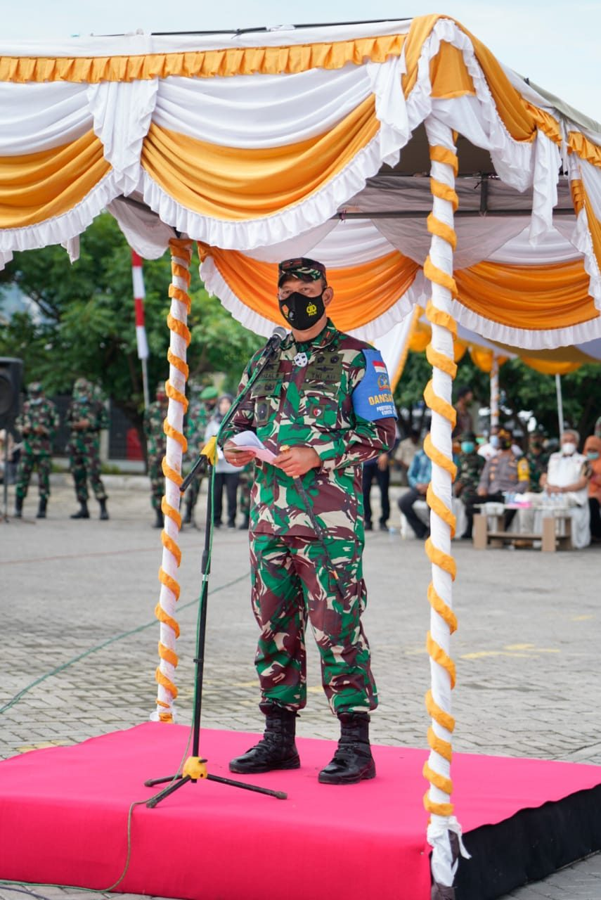 Danrem 162/WB Sambut Tim Satgas Zeni TNI AD Bangun Tiga Jembatan di Bima