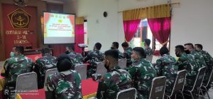 Siswa Pusdikkum Kodiklatad Praktek Lapangan di ODMIL III-08 Bandung