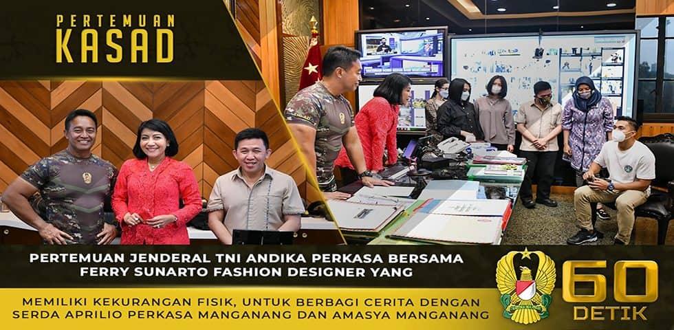 Kasad Mengenalkan Ferry Sunarto Kepada Serda Aprilio Manganang dan Amasya Manganang