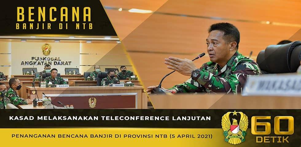 Teleconference Lanjutan Penanganan Bencana Banjir di Provinsi NTB