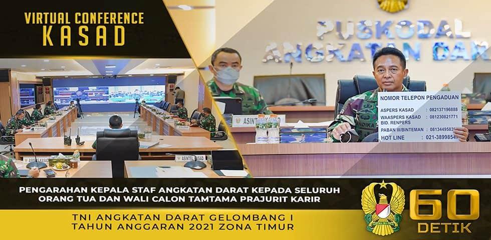 Pengarahan Kasad kepada Seluruh Orang Tua dan Wali Calon Tamtama Prajurit Karir TNI AD Gel. I