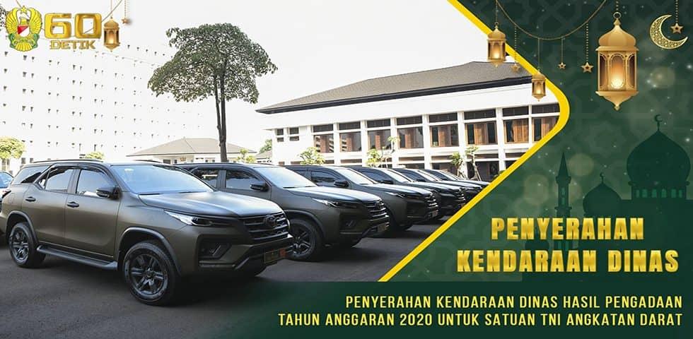 Penyerahan Kendaraan Dinas Hasil Pengadaan TA. 2020 untuk Satuan TNI Angkatan Darat