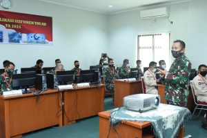 Srenaad Selenggarakan Bimbingan Teknis Aplikasi Sisforen TNI AD TA 2021
