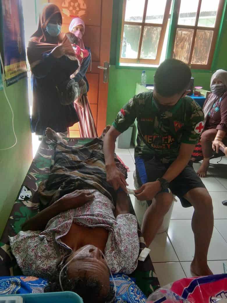 Pelayanan Kesehatan Gratis, Bukti Kepedulian Satgas Yonif 131 Kepada Warga Keerom