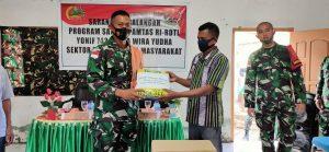 Kunjungi Desa Dafala, Dansatgas Pamtas Yonif 742 Pastikan Siap Bantu Kebutuhan Warga