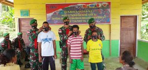 Bhakti Sosial Satgas Yonif 734/SNS, Bentuk Perhatian dan Kepedulian Kepada Warga Desa Maneo