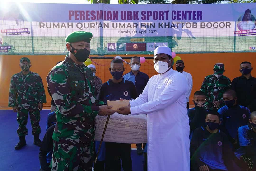Danrem 061 Resmikan UBK Sport Center di Pondok Rumah Qur'an Umar bin Khattab