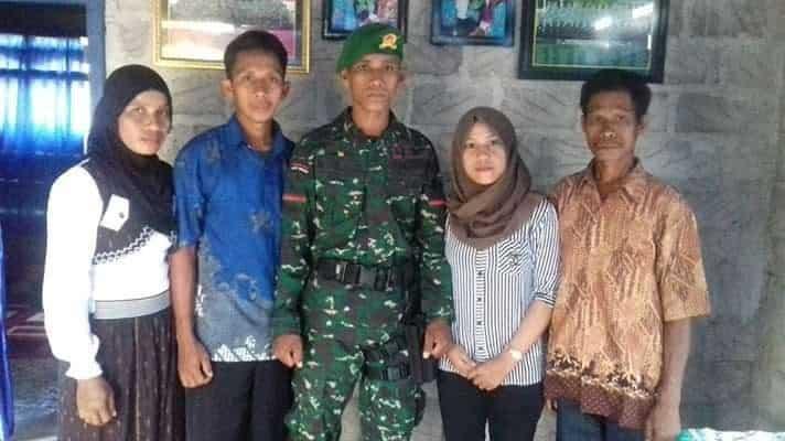 Lolos Ikut Pendidikan TNI AD, Hasrin Tuntaskan Janji Kepada Almarhum