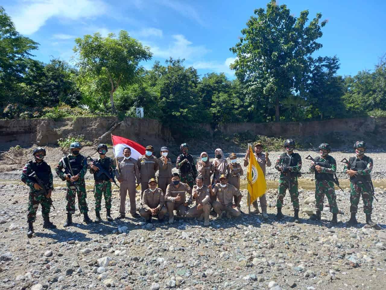 Cegah Kegiatan Ilegal, Satgas Yonif 742 Gelar Patroli Bersama di Perbatasan RI-RDTL