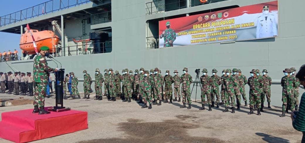 Misi Satgas Zeni TNI AD di Bima Selesai, Yonzikon 13/KE Lanjutkan Misi Ke Alor