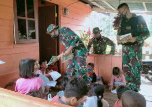 Satgas Yonif Mekanis 512 Berbagi Ilmu Pengetahuan Dengan Anak Perbatasan RI-PNG