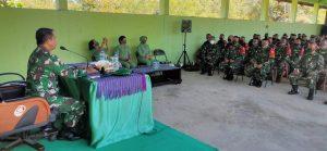 Satgas Yonif 742 Terima Kunjungan Komandan Kolakops Rem 161