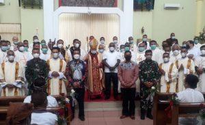 Danrem 174 Merauke Hadiri Pentabisan Imam Baru dan Diakon Keuskupan Agung Merauke