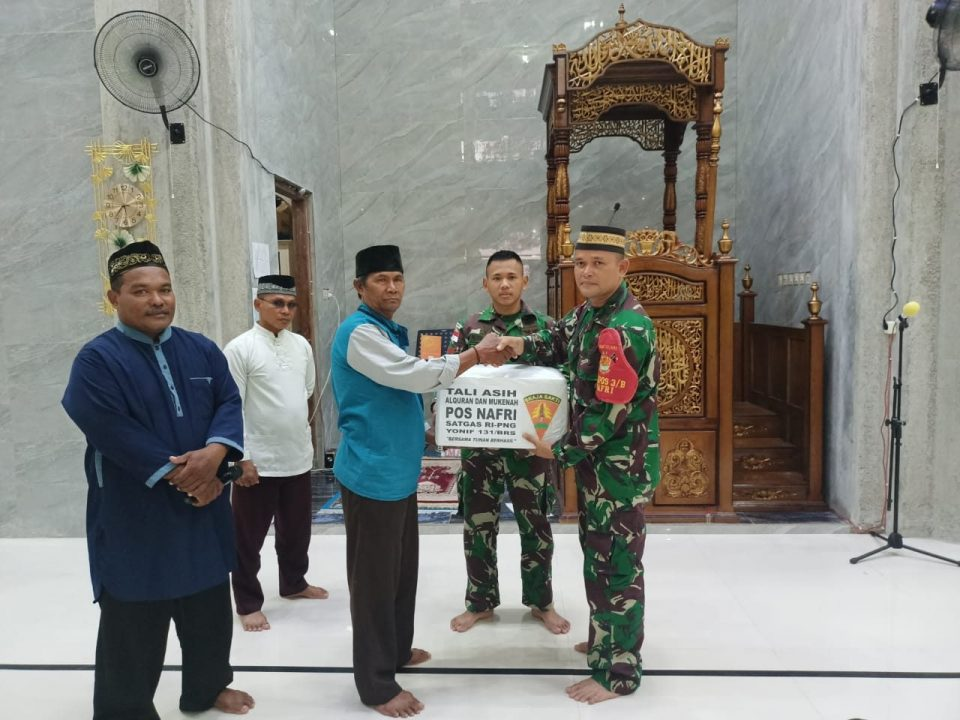 Tingkatkan Jalinan Silaturahmi, Satgas Yonif 131 Buka Bersama Toga dan Tomas Papua