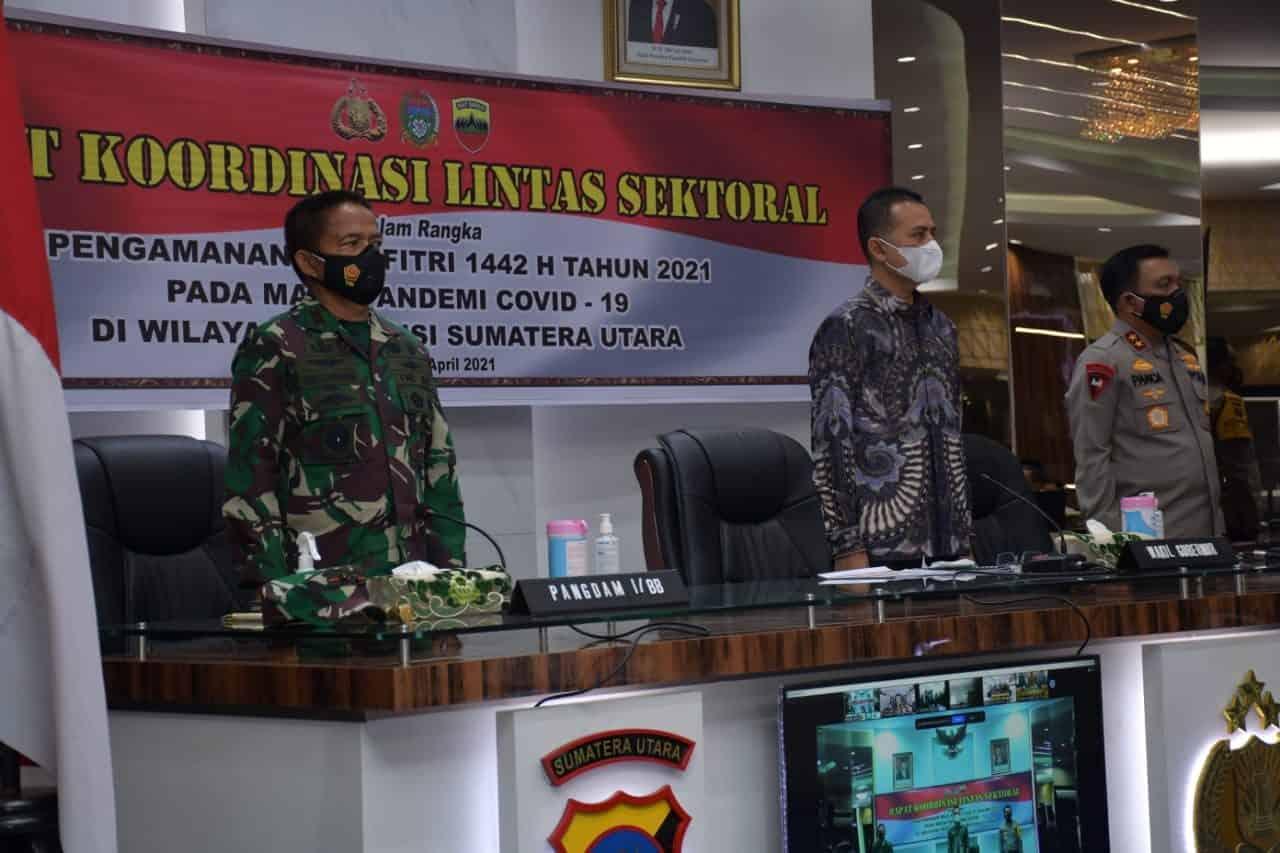 Pangdam I/BB Hadiri Rakor Lintas Sektoral Persiapan Pengamanan Idul Fitri