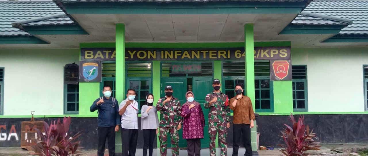 Satgas Yonif 642 Terima Kunjungan Tim BNPP