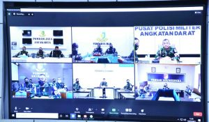 Melalui Vicon, Danpuspomad Cek Kesiapan Pomdam Wilayah Dukung Latma Garuda Shield 2021