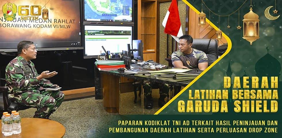 Paparan Kodiklat TNI AD Terkait Hasil Peninjauan dan Pembangunan Daerah Latihan