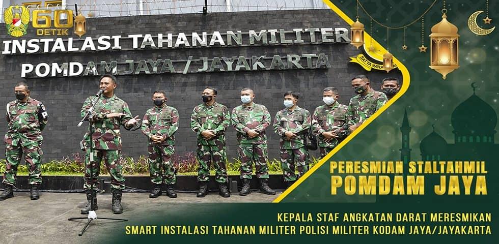 Kasad Meresmikan Smart Instalasi Tahanan Militer Polisi Militer Kodam Jaya
