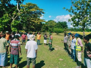 Cegah Pelanggaran, Satgas Yonif 742 Sosialisasi PBN Kepada Masyarakat Turiscain