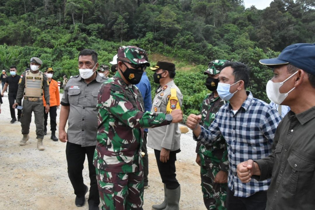 Pangdam I/BB Bersama Forkopimda Sumut, Tinjau Bencana Longsor di PLTA Batang Toru Tapsel