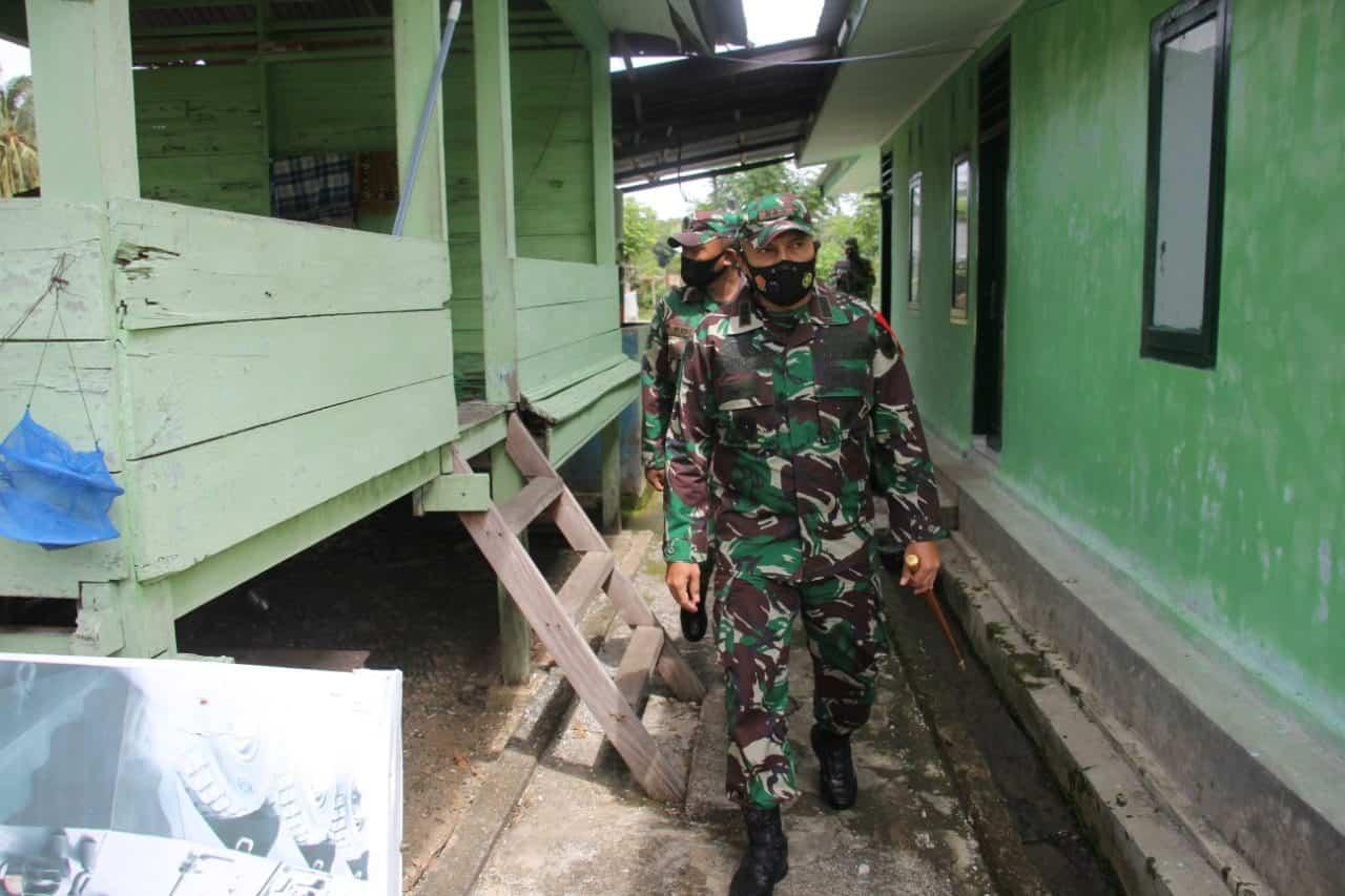 Dandim 0101/BS Cek Kesiapan Operasional Koramil 02/Lhoong