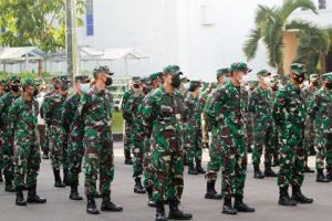Jelang Lebaran Idul Fitri 1442H, Komandan Kodiklatad Pimpin Apel Luar Biasa