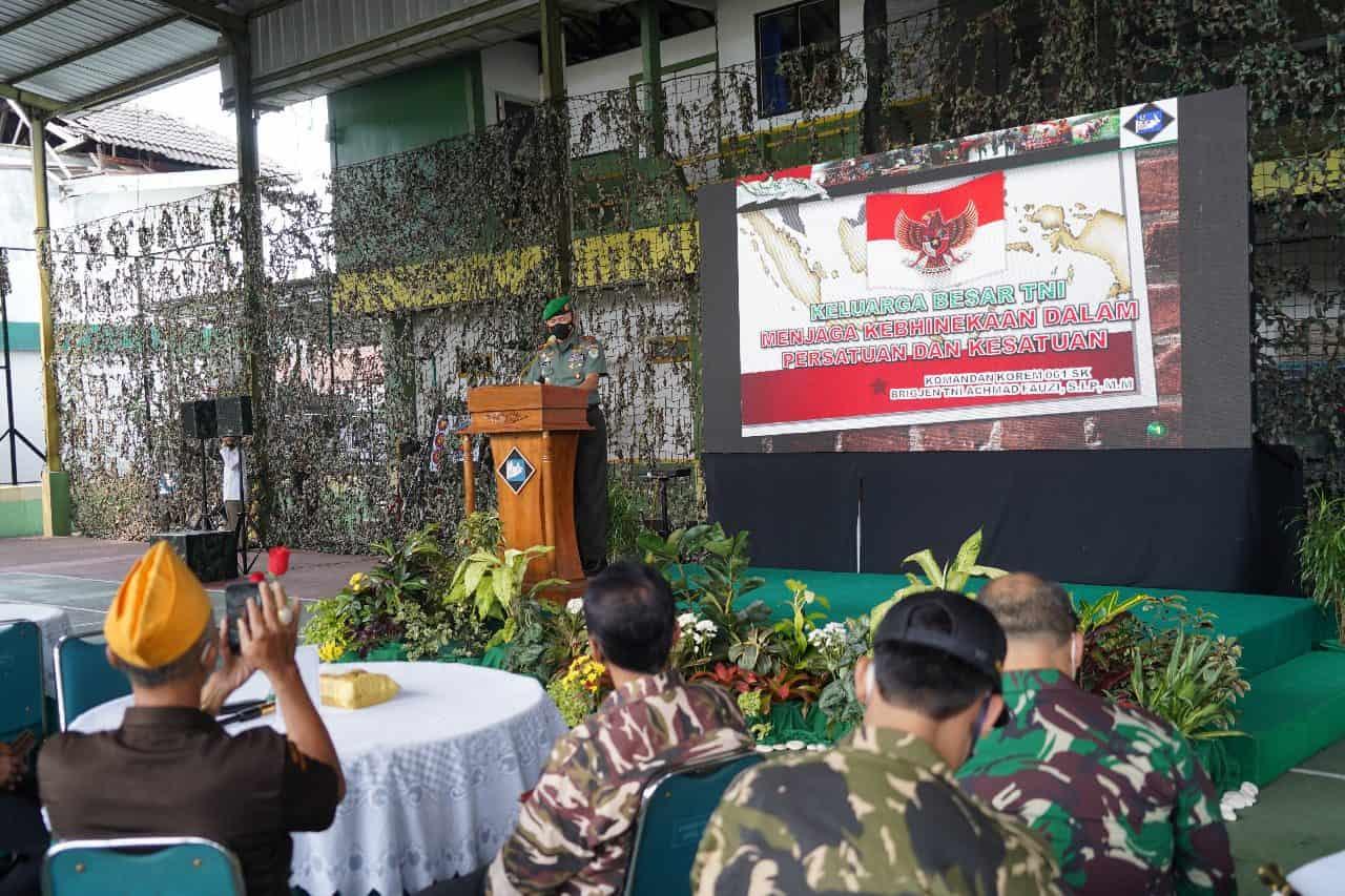 Silaturahmi Danrem 061/SK Bersama Keluarga Besar TNI pada Bulan Suci Ramadhan
