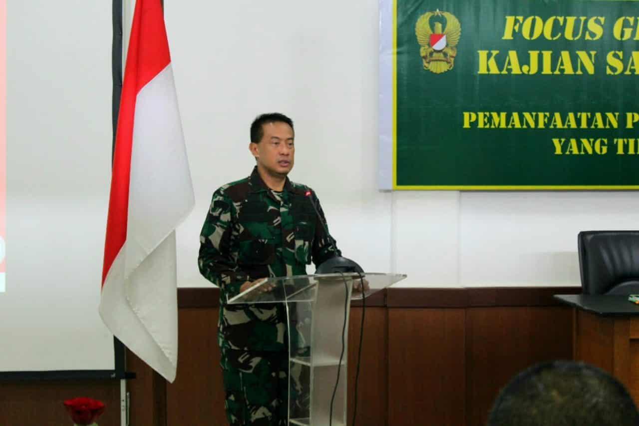 Kadislitbangad Membuka Acara FGD Pemanfaatan Prototipe Hasil Litbanghan