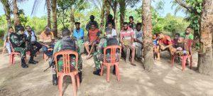 Melalui Komsos, Yonif 757/GV Rebut Hati Masyarakat Papua