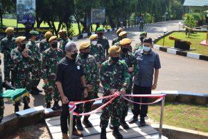 Icon Batalyon Arhanud 10 Gagak Hitam Diresmikan oleh Danpussenarhanud