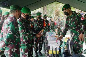 Cegah Penyebaran Covid-19, Pangdam XVIII/Kasuari Perintahkan Prajuritnya Ajak Masyarakat Patuhi Prokes