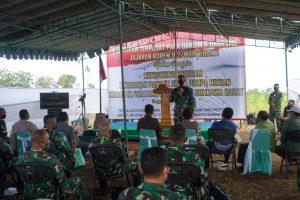 Danrem 162/WB Buka Pelatihan Terpusat Dandim dan Danramil Jajarannya di Talonang