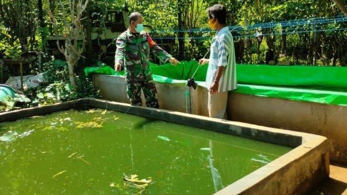 Babinsa Sanggau Ledo Ajak Warga Tetap Produktif di Tengah Pandemi Covid-19