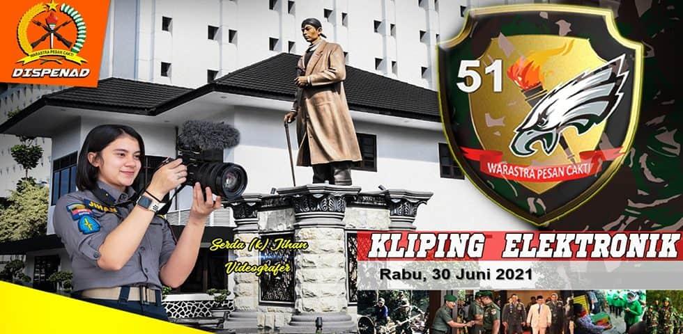 Kliping Elektronik Rabu, 30 Juni 2021