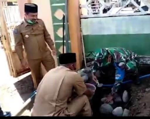 Dandim 1614/Dompu Wujudkan Janjinya Bangun Pos Jaga di Masjid Agung Baiturrahman