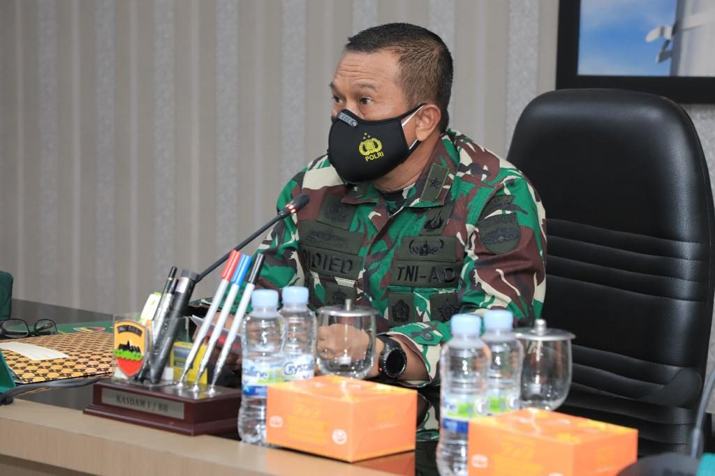 Kasdam I/BB Buka Entry Briefing Tim Dalproggar TNI AD TA 2021