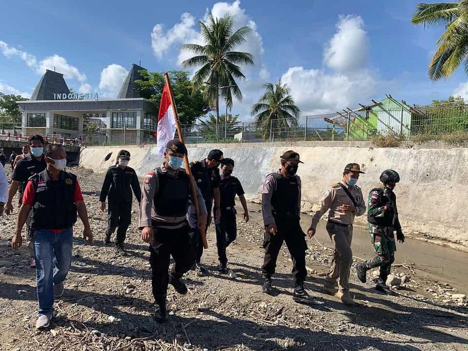 Cegah Penyelundupan, Satgas Yonif 742 Gelar Patroli Gabungan di Perbatasan